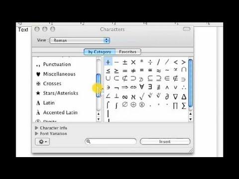 How to Do Symbols on a Mac : Internet & Mac Tutorials