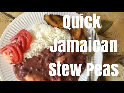 Quickest Way to Make Jamaican Stew Peas & Rice
