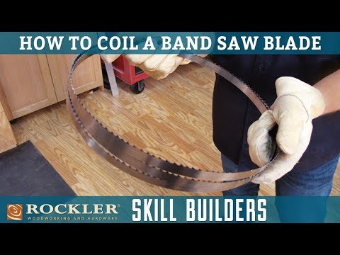 How to Coil and Store Band Saw Blades | Rockler Skill Builders