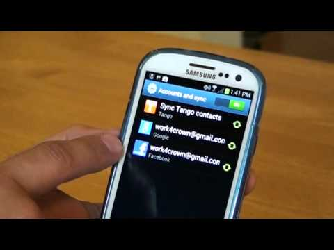 Samsung S3 start up and Google account