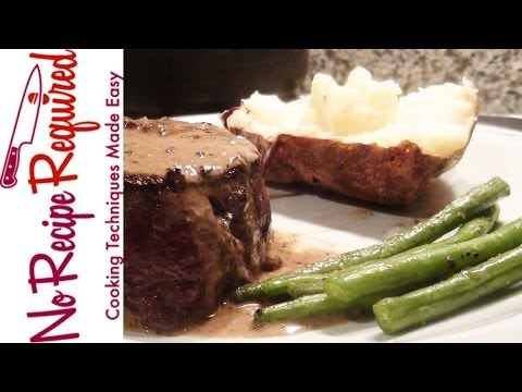 Filet Mignon With Peppercorn Sauce - NoRecipeRequired.com