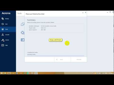How to make USB boot acronis 2015