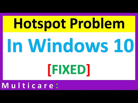 How to solve windows 10 hotspot problem [Solved]