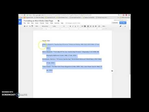 Formatting an MLA Works Cited Page in Google Docs