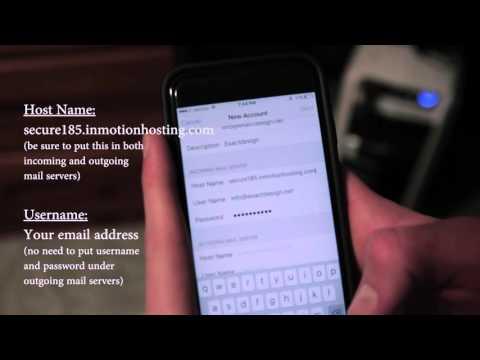How to configure exactdesign webmail on iphone