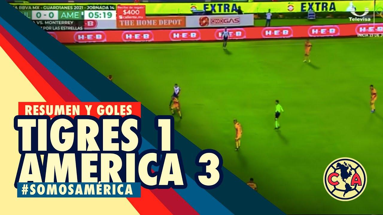 RESUMEN y todos los GOLES: Tigres 1-3 América Liga MX