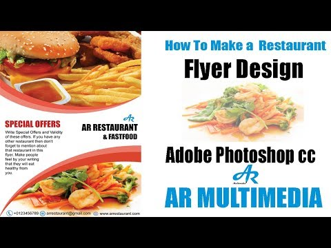 How to Create a Flyer Design in Photoshop cc|Restaurant flyer design in Photoshop|AR Multimedia