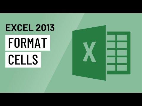 Excel 2013: Formatting Cells