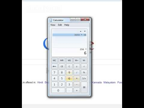 How to Clear History in Calculator - Windows 7