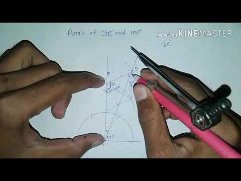 Angle of 70 and 100 degrees | construction | hindi
