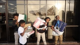 SURPRISED MARK JR WITH A PS4 FOR HIS BDAY & TOOK DEDE3X , BAM, MYA & JAY WITH NEW SHOE