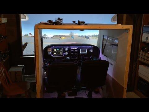 Basement Sim Tour 2.0 (P3D / X-Plane Cessna Home Cockpit)