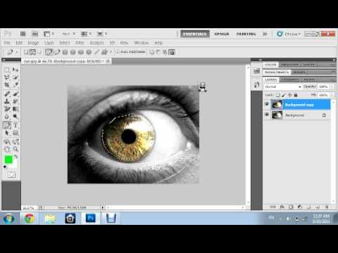 Photoshop cs5 changing eye color tutorial