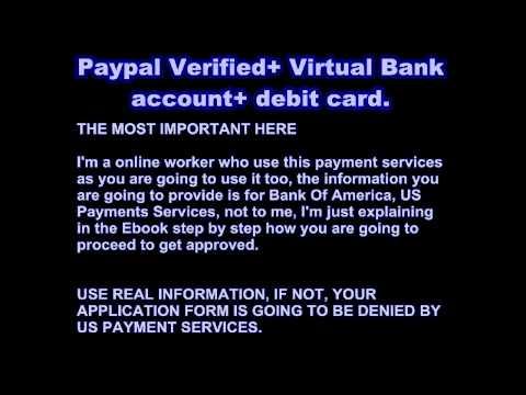 Verify Paypal Account Using Payoneer Free Debit Master Card And Virtual Bank Account-Verify Paypal