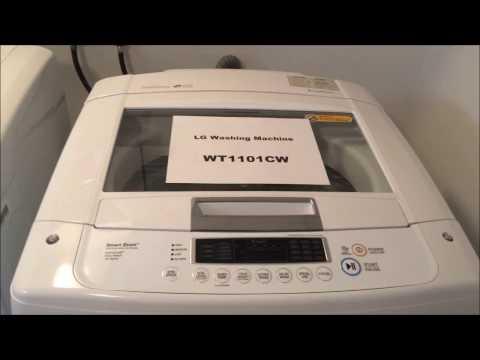 LG Washing machine, WT1101CW, UE unbalance code, easy fix