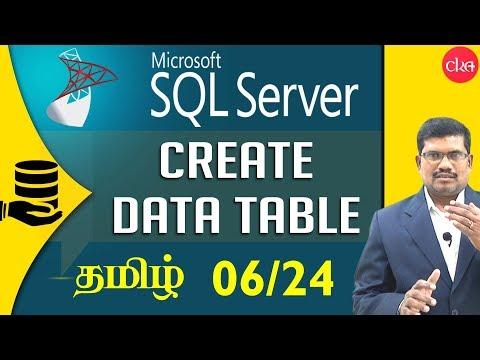 #6 Create a Data Table in SQL || Microsoft SQL Server in Tamil