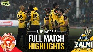 PSL 2019 Eliminator 2: Islamabad United vs Peshawar Zalmi   Caltex Full Match Highlights