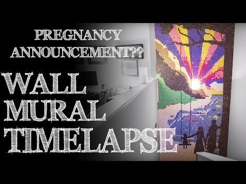 Timelapse of a Wall Mural - Pregnancy Announcement!