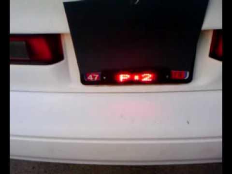 Scrolling LED License Plate Frame