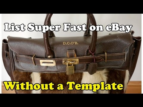Scavenger Life Epsiode 202: List Super Fast on eBay Without a Template