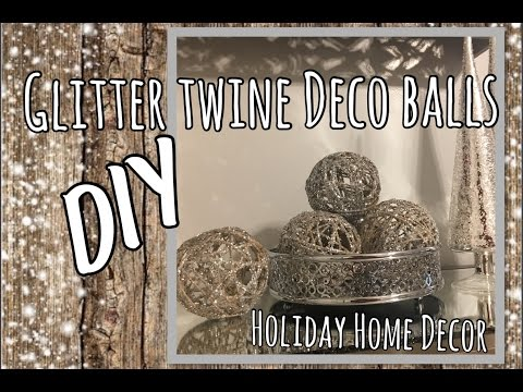 Glitter Twine Balls DIY | Glam Holiday Home Decor | The Green Notebook