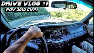 POV Drive Vlog #1 Crown Vics In The Mountains of California | Crown Rick Auto Police Interceptor