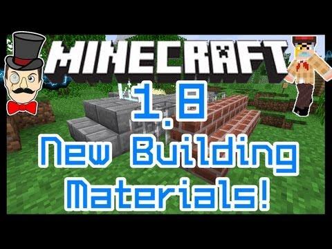 Minecraft 1.8 FENCE GATES, Glass Panes & Iron Bars! New Building Items!