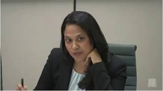 Rushanara Ali MP at Treasury Committee June 6th TSB