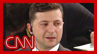 Ukrainian President Zelensky rejects Trump's claim in CNN interview