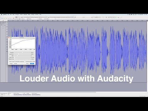 Louder Dialogue Audio with Audacity (Free)