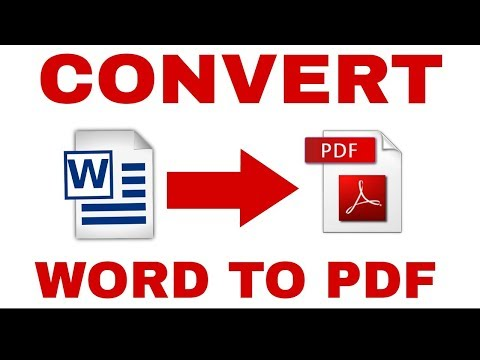 how to convert word file to pdf file [hindi]