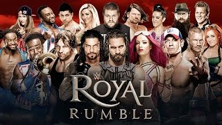 WWE Royal Rumble 2018 Match card and Royal Rumble Match