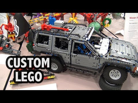 Motorized LEGO Nissan Xterra with Lights | Bricks Cascade 2018