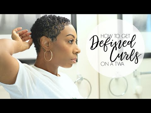 How To Get Defined Curls on TWA | Kaye Wright