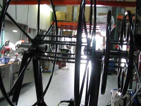 Vacuum hose electric hose reel