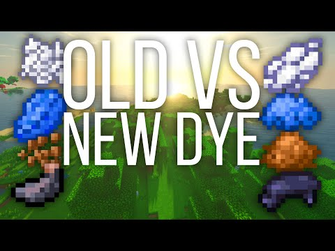 Old vs New Dyes in Minecraft