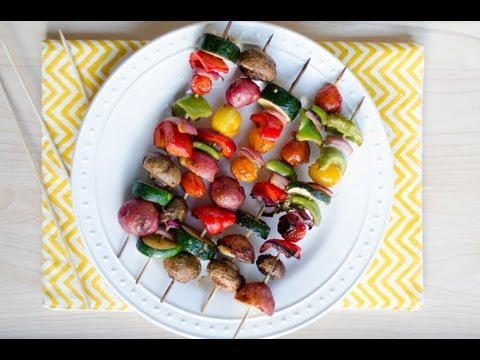 Reel Flavor - Grilled Veggie Kabobs