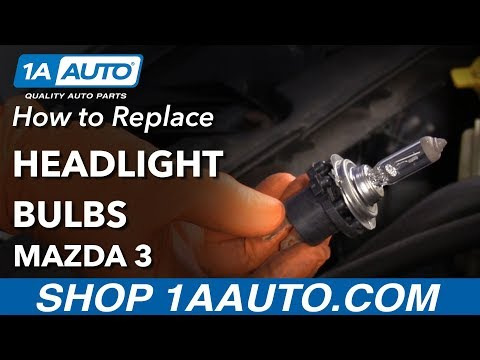 How to Replace Headlight Bulbs 03-09 Mazda 3