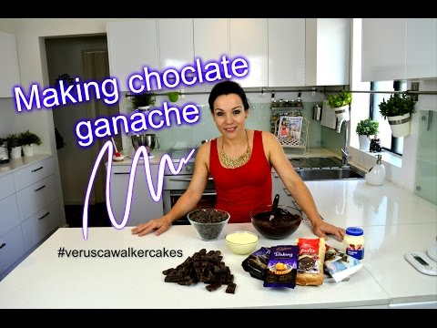 CHOCOLATE GANACHE RECIPE   HOW TO MAKE CHOCOLATE GANACHE TO COVER CAKES   BY VERUSCA WALKER