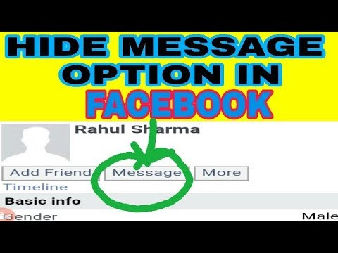 How To Hide Message Option On Facebook 2018 || Remove Message Option On Facebook By Gyan Masti