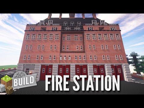 Minecraft: British Fire Station - Let's Build Showcase