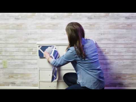 Transform a Dresser with Peel and Stick Wallpaper
