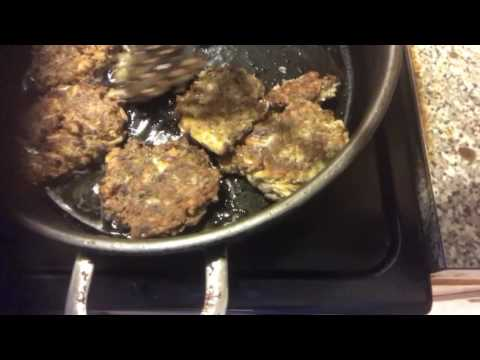 Cooking Jack Mackerel patties