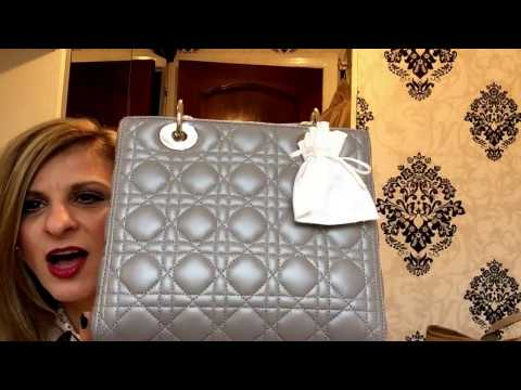 01bdd37a615f Lady Dior Blue Patent Unboxing
