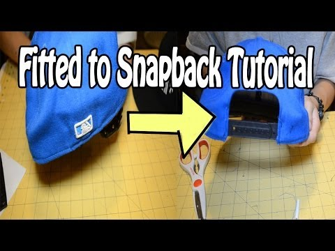 DIY: How to turn a Fitted into a Snapback   Customize Yo Hat #7