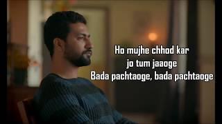 Pachtaoge | Arijit Singh | Jaani Ve | Jaani | B Praak | Vicky Kaushal , Nora Fatehi |