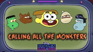 Calling All the Monsters Parody 🎃 | Lyric Video | Broken Karaoke | Big City Greens | Disney Channel