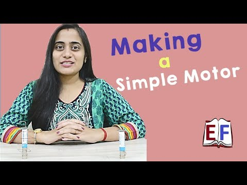 Make Simple Motor using Battery and Magnet at home : School Science Physics Project