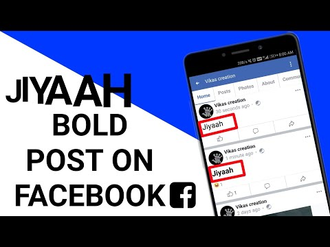 How to do bold post on facebook full explanation