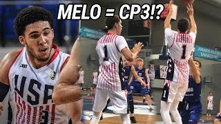 LaMelo Ball Puts On A SHOW For Team USA! Throws Insane Dimes & Drops 30 Points! Gelo Scores 32 🔥